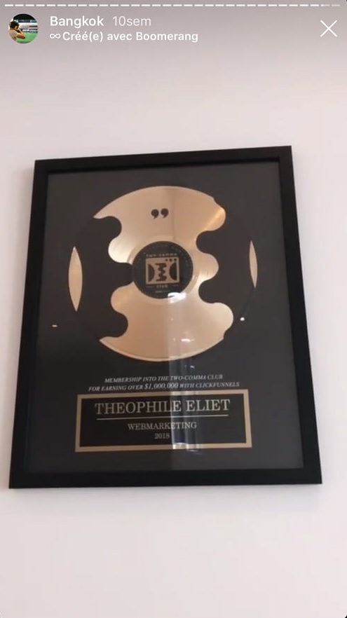 combien gagner theophile eliet avec clickfunnels