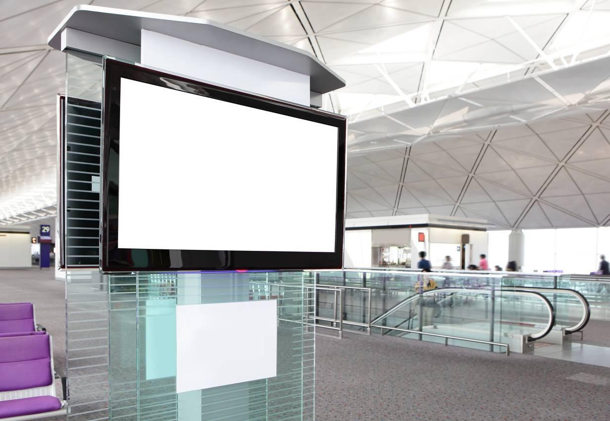 panneau digital aéroport